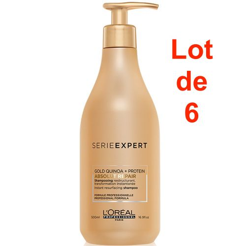 Serie Expert Absolut Repair Gold Shampoing Lot de 6