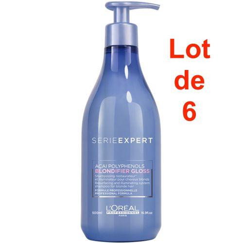 Serie Expert Blondifier Gloss Shampoing Lot de 6