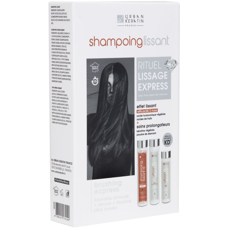 Urban Shampoing Lissant Diamant Kit 2 X 250 + 200 ml