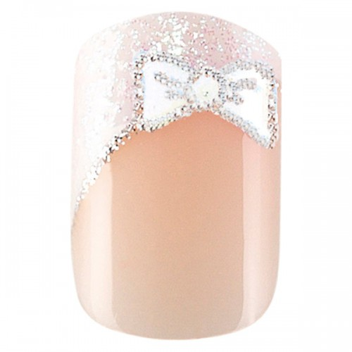 24 faux ongles Idyllic Nails French Bow 150082