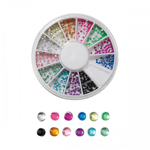 Carrousel strass pour ongles jewels 600 pcs 149910