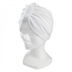 Bonnet turban blanc 160013