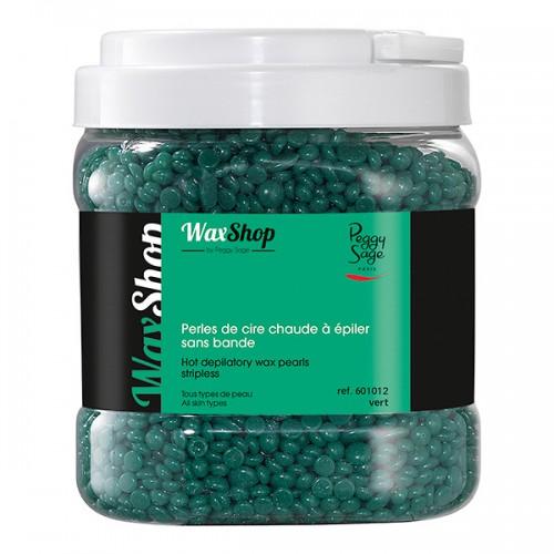 Perles de cire chaude à epiler 1kg vert 601012