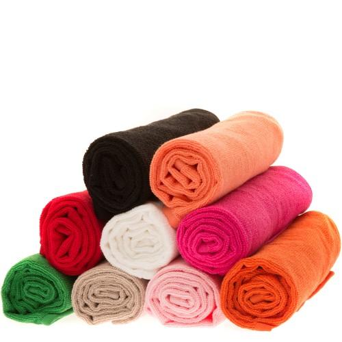 Serviettes éponge de couleur (la douzaine)