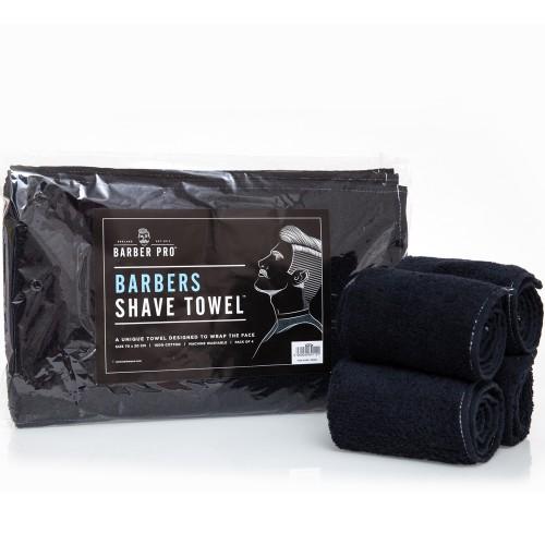 Serviettes de Barbier éponge noire (par 6)