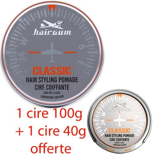 "Cire capillaire ""Classic"" Hairgum 100g + 40g offerte"