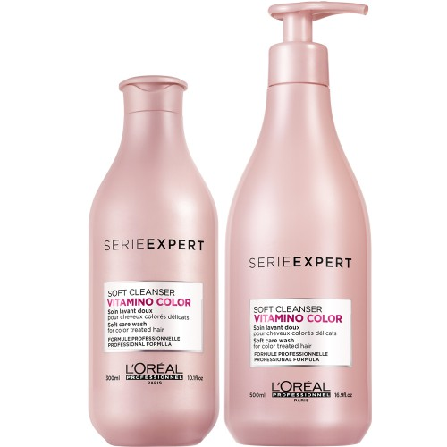 Serie Expert Vitamino Color Shampoing Soft Cleanser Sans Sulfate