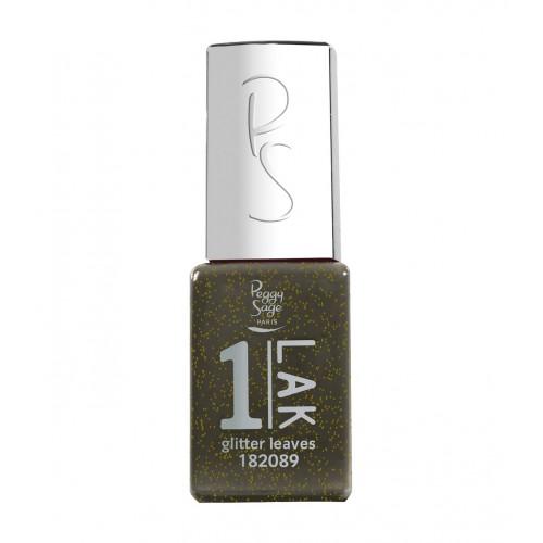 Vernis semi-permanent 1-LAK Glitter leaves 182089