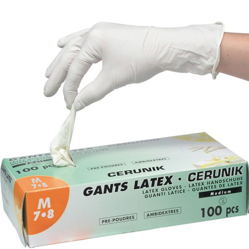 Gants Latex Blanc boite de 100