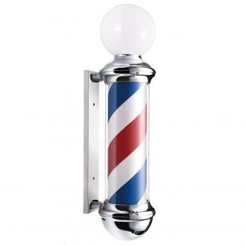 Pôle Enseigne de Signalisation Barbier Avec Globe