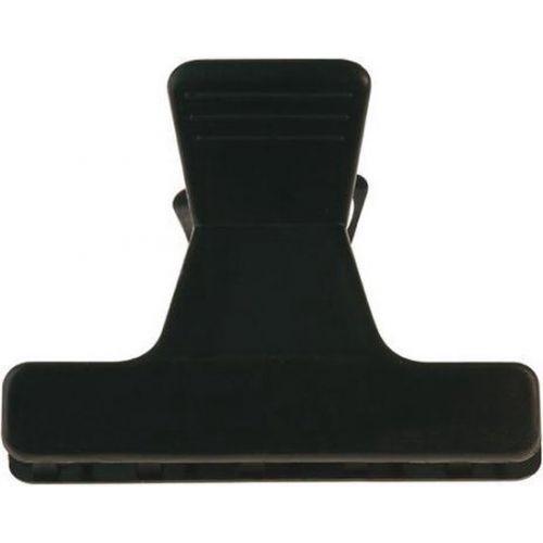 Pinces croco brushing noires  6 cm