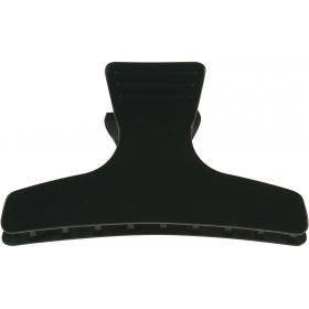 Pinces Separe-Meches croco noires  8 cm