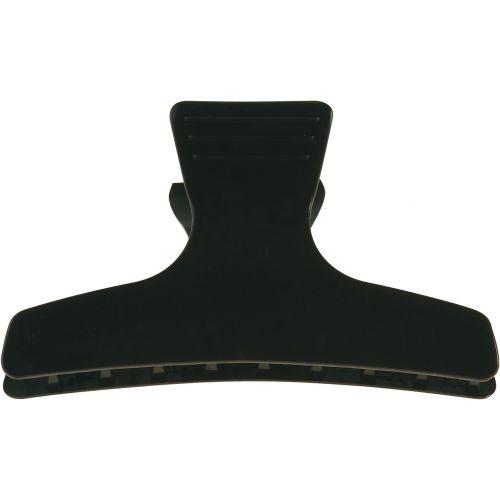 Pinces croco brushing noires  8 cm 710119